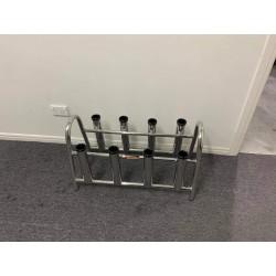 8 rod storage rack stainless