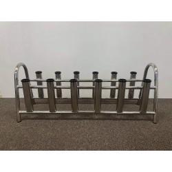 12 rod storage rack stainless